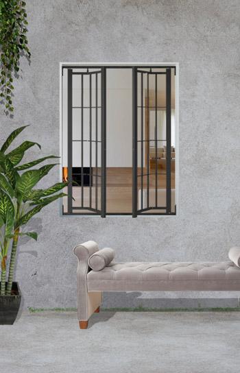 grate e inferriate a snodo per finestra