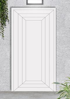 porta blindata-disegno a doghe 16